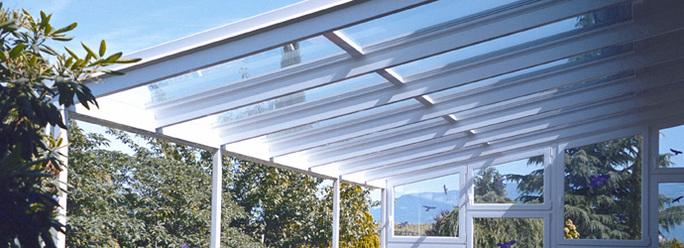 Tettoie in vetro Finstral, Tettoia vetro, tettoie in legno e vetro, pergole con copertura ...