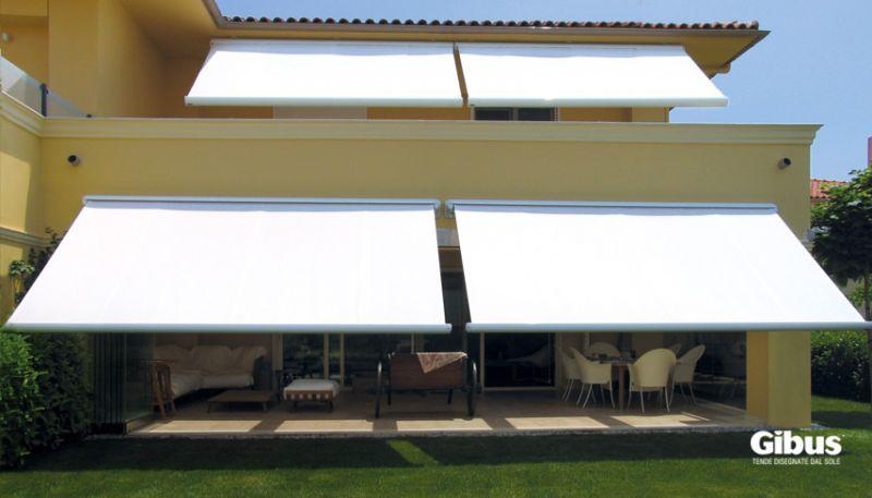 Tende da sole tende a bracci gibus atelier vendita tende - Tende ombreggianti per esterno ...