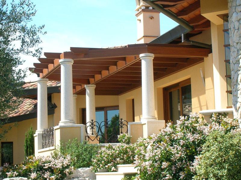 Tende Pergolati Verona : Pergole con copertura pergolati legno pergosystem vendita pergole